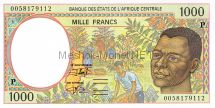 Банкнота Чад 1000 франков 2000 год