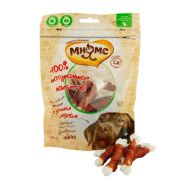 Мнямс Лакомства для собак Кальцинированные косточки с утиным мясом (100 г)