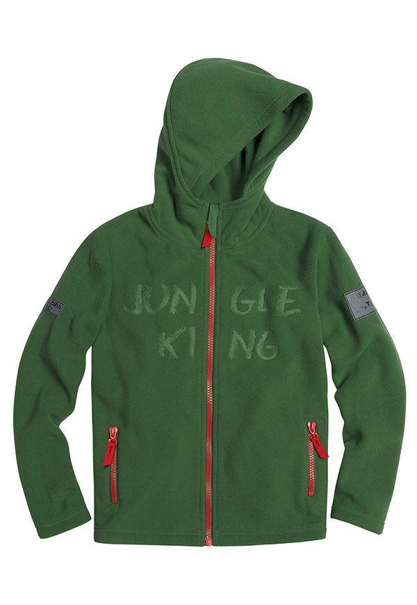 Флисовая куртка для мальчика 9 лет Dark green