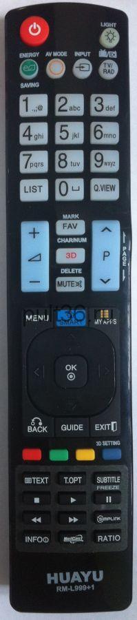 Пульт ДУ LG RM-L999 универсальный  (корпус AKB 72914020) КНР