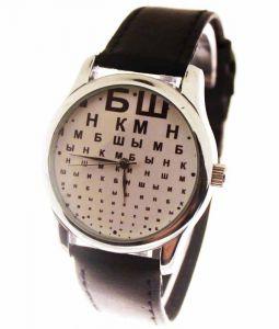 Прикольные наручные часы Буквы 2