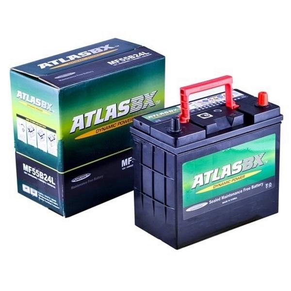Автомобильный аккумулятор АКБ ATLAS (Атлас) MF55B24L 45Ач о.п.