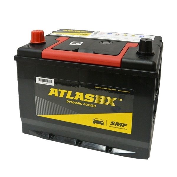 Автомобильный аккумулятор АКБ ATLAS (Атлас) 90RC MF85R-500 55Ач п.п. нижнее крепление