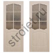 Дверь межкомнатная  классика по пвх беленый