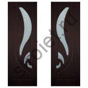 Двери межкомнатные Лилия  венге пвх