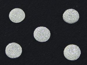 Кабошон круглый, акрил, блестящий, 14 мм, цвет №01 прозрачный(1уп=100шт)