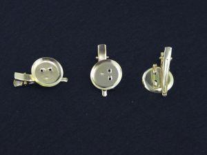 Заколка (40 мм)+платформа(25 мм)+иголка. Цвет - Золото. (1 упаковка=50 шт)