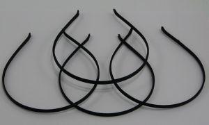 `Ободок, металл обтянутый тканью, ширина 5 мм, цвет черный