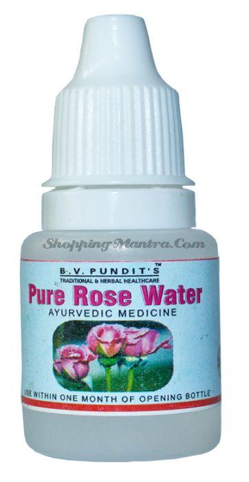 Успокаивающие капли для глаз Розовая вода B.V.Pundit Pure Rose Water Eye Drops