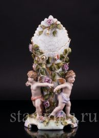 Ваза три ангелочка, салфетница, Von Schierholz, Германия, сер 20 в