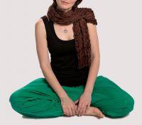 Женский шарф из натурального шёлка, шоколадно коричневый, Москва