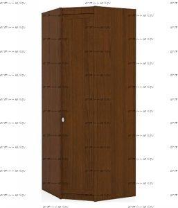 Шкаф угловой Итальянские мотивы (51.203.01/03) МДФ, 88х88х228
