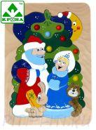 """КРОНА. Мозаика деревянная """"Новогодняя"""""""