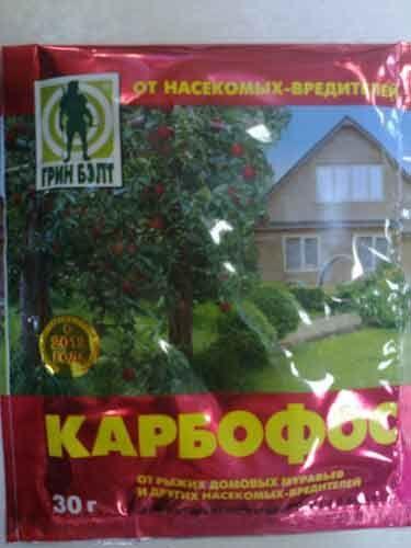 """Препарат от вредителей """"Карбофос"""" 30г  (Грин Балт)"""