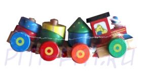 "MAPASHA. Пирамидка-каталка ""Поезд-2"""