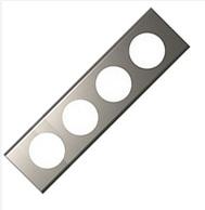 Рамка Legrand Celiane 4 поста фактурная сталь (арт.69104)
