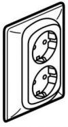 Розетка Legrand Galea Life двойная Aluminium (арт.771330)