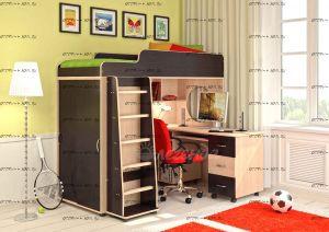 Кровать-чердак Легенда-5.2 со столом
