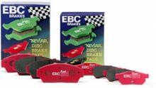 Колодки тормозные, EBC, серия Red Stuff, передний к-кт для 5D Type R