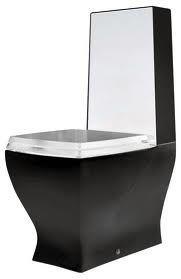 Унитаз 36х69 (цвет черно-белый)  ArtCeram  JAZZ, JZ05C с горизонтальным выпуском.