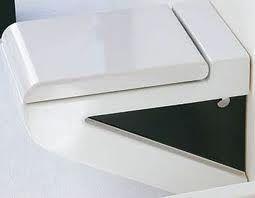 Унитаз 36х54 (цвет бело-черный) ArtCeram  LA FONTANA, S03  подвесной.