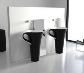 Умывальник (цвет черно-бел)  ArtCeram CUP, L3710  свободноостоящий, с сифоном.