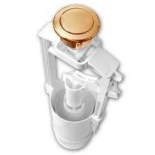 Механизм слива Azzurra B19002FBRON/40  в комплекте с кнопкой двойного слива 3/6 л для бачка (бронза)