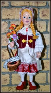 Чешская кукла-марионетка Красная Шапочка - Karkulka (Чехия, Praha, Hand Made, авторы  Ивета и Павел Новотные)