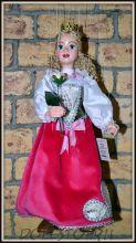 Чешская кукла-марионетка Принцесса - Princezna (Чехия, Praha, Hand Made, авторы  Ивета и Павел Новотные)