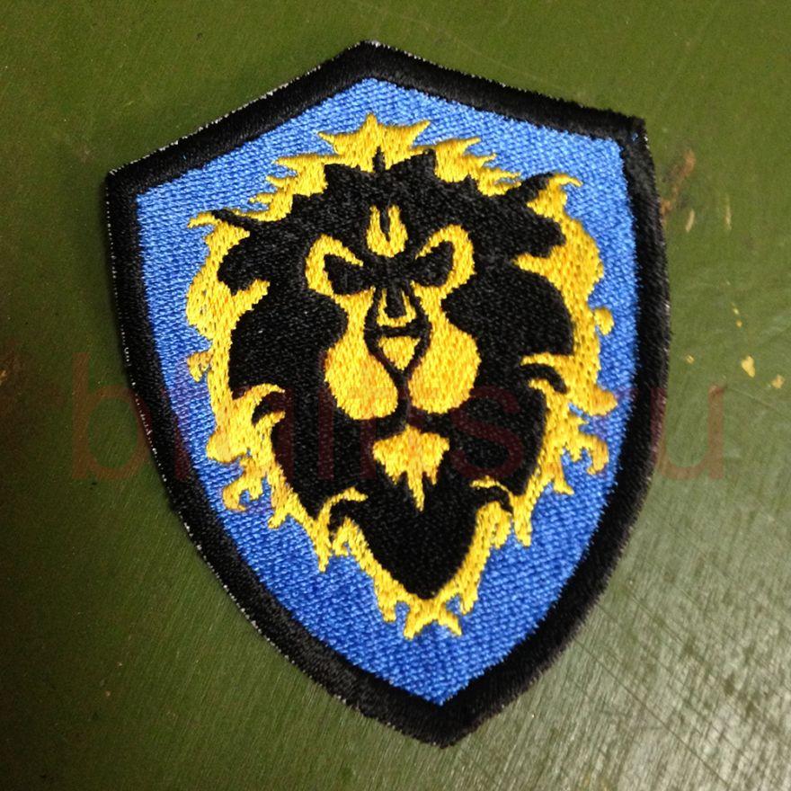 Шеврон герб Альянса, по мотивам WARCRAFT