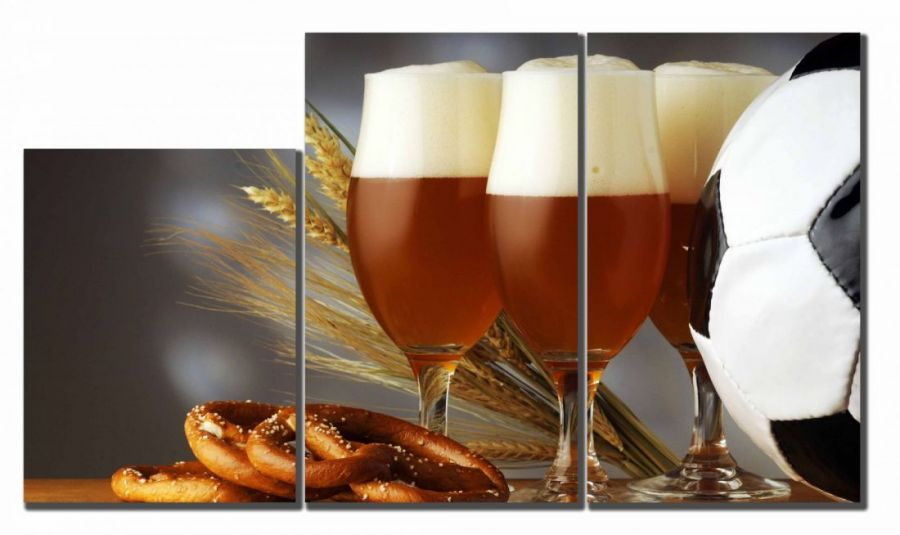 Модульная картина Пиво и футбол