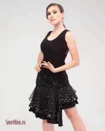 Костюм для спортивных танцев латина чёрный