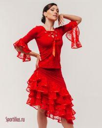 """Красный костюм для латины """"Флоранс"""""""