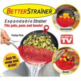 Универсальный дуршлаг-накладка для слива воды Better Strainer