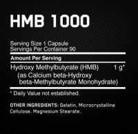 Optimum Nutrition HMB 1000mg состав