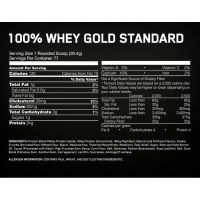 Optimum Nutrition 100% Whey protein Gold standard 3,27 lb состав