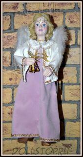 Чешская кукла-марионетка Ангел - Anděl (Чехия, Praha, Hand Made, авторы  Ивета и Павел Новотные)