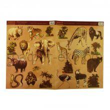 Декупажные карты 33х48 Африканские животные В8021
