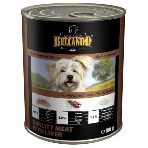 Консервы BELCANDO QUALITY MEAT WITH LIVER для собак всех пород с мясом и печенью 800гр