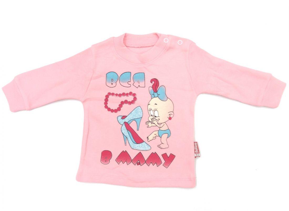 Розовая кофта для девочки Вся в маму