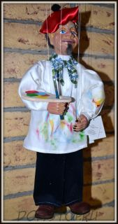 Чешская кукла-марионетка Художник  - Painter (Чехия, Praha, Hand Made, авторы  Ивета и Павел Новотные)