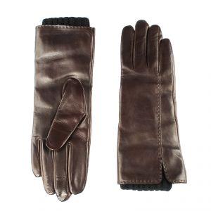 Перчатки женские 02104516668_35; кожа; коричневый (Размер 7)