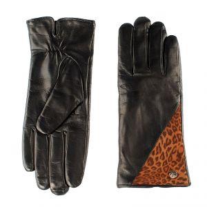 Перчатки женские 02104516673_01; кожа; черный (Размер 7)