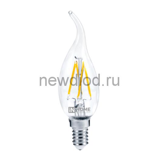 Лампа светодиодная LED-СВЕЧА НА ВЕТРУ-deco 7Вт 230В Е14 3000К 630Лм прозрачная IN HOME