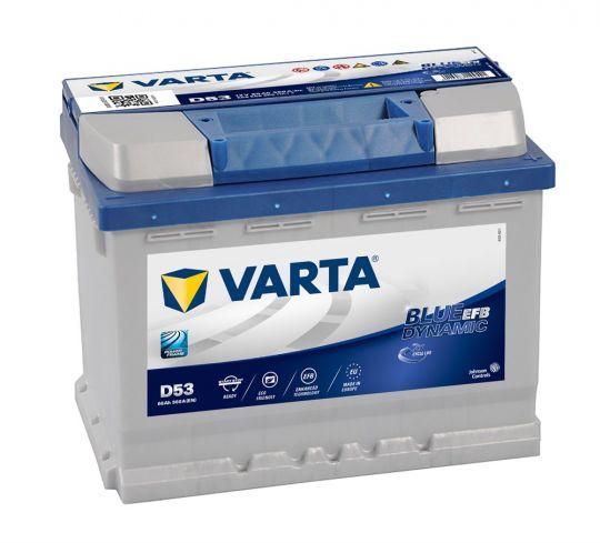 Автомобильный аккумулятор АКБ VARTA (ВАРТА) Blue Dynamic EFB 560 500 056 D53 60Ач О.П.