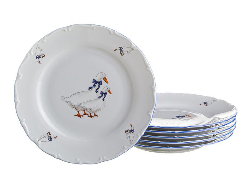 """Набор тарелок """"Гуси"""", 21 см, 6 шт."""