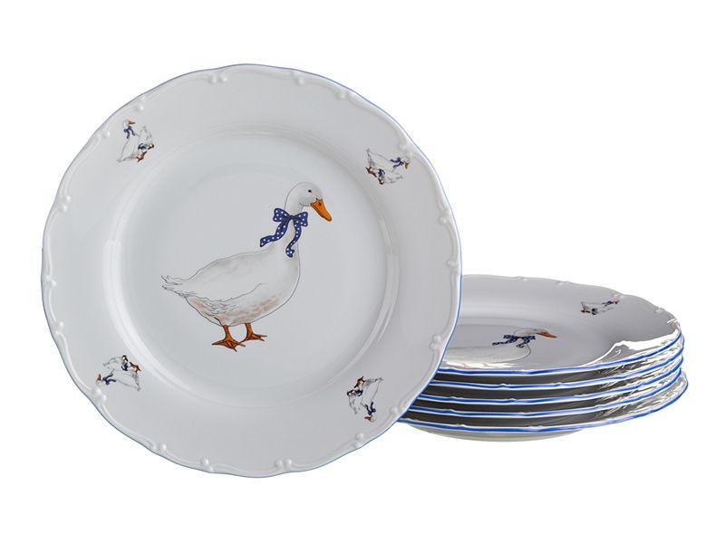 """Набор тарелок """"Гуси"""", 25 см, 6 шт."""