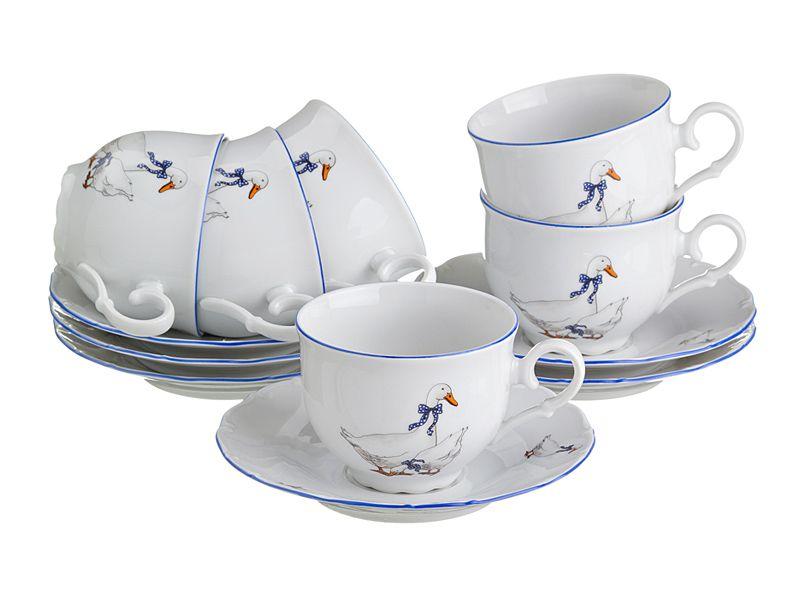 "Чайный набор на 6 персон ""Гуси"", 12 пр."