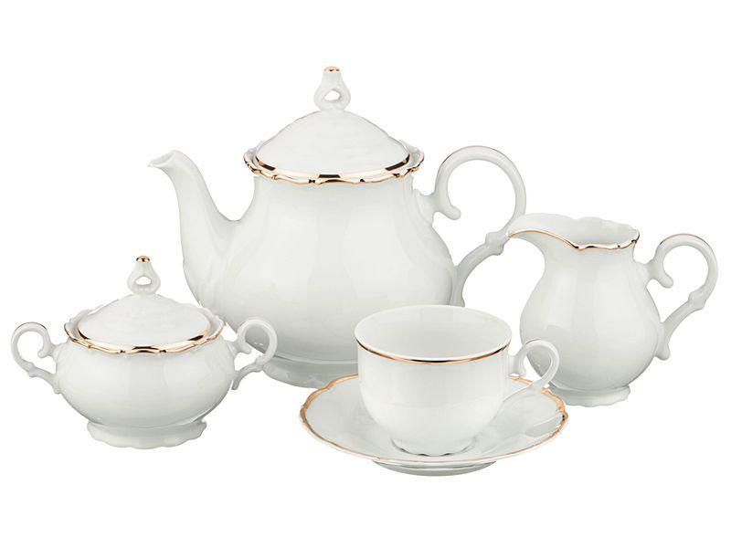 """Чайный сервиз на 6 персон """"Офелия 662"""", 15 пр."""