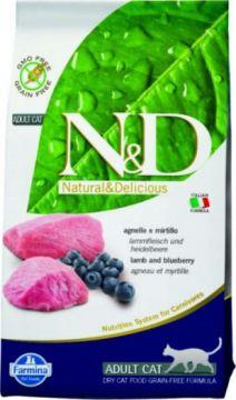 N&D Cat Lamb & Blueberry Adult.(Ягненок+черника беззерновой для взрослых кошек )